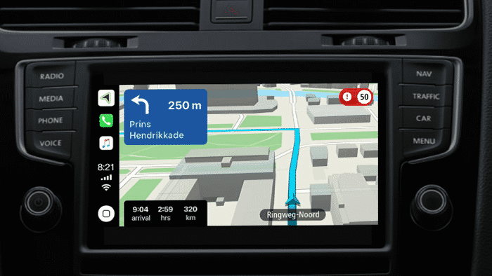 TomTom-Navi für Apples CarPlay