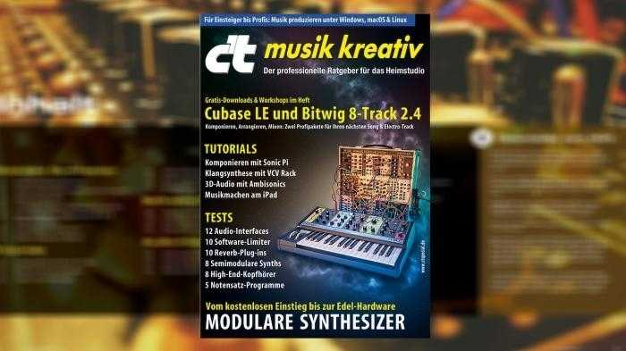 c't spezial musik kreativ: Cubase LE 10 jetzt verfügbar