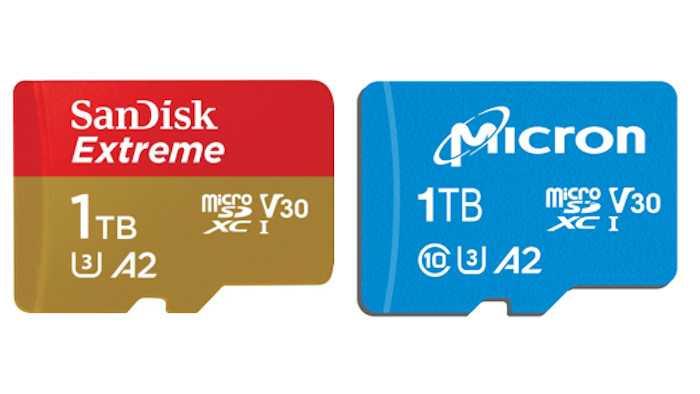 MicroSD-Karten mit 1 TByte Speicher