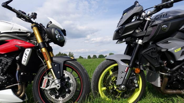 Vergleich Triumph Speed Triple R Vs Yamaha Mt 10 Heise Autos