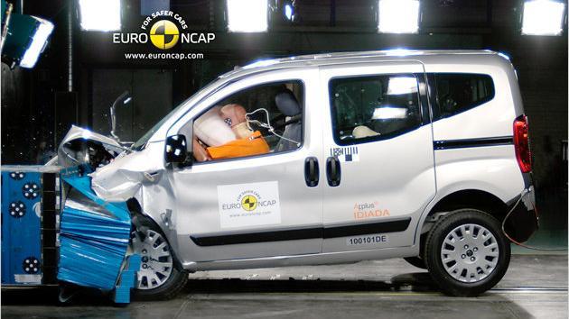 Schlechtester im aktuellen EuroNCAP-Test ist der Citroën Nemo Multispace.