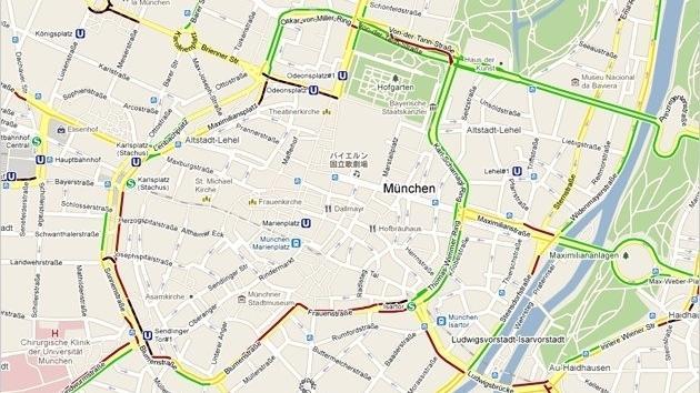 Google Maps mit Live-Verkehrsinformationen | heise Autos on