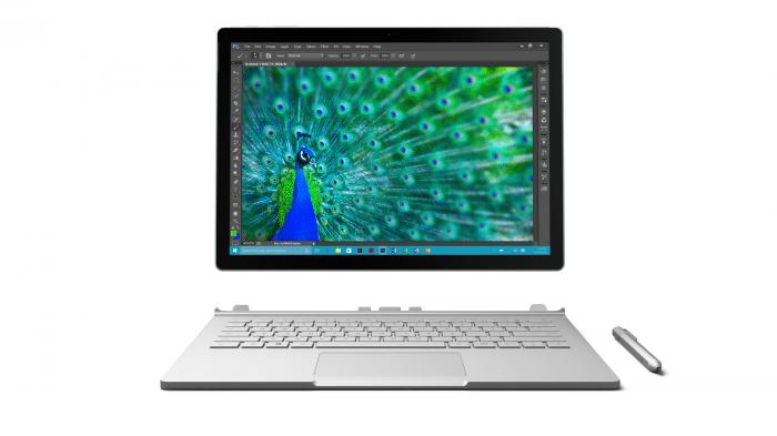 Das Surface Book: Notebook mit abnehmbarem Clipboard und Stift