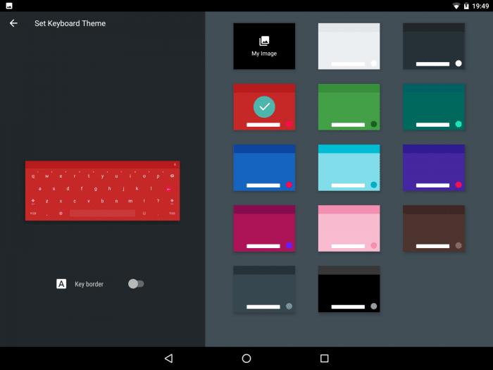 Google Keyboard: Themes und eigenes Hintergrundbild