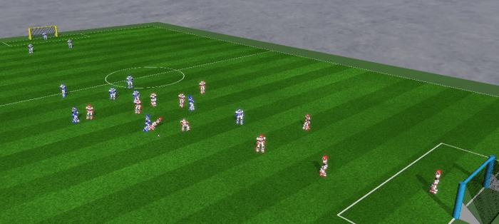 Dank Verbesserungen der Hard- und Software ist es seit 2014 möglich, auch in der 3D-Simulation mit elf gegen elf Spielern anzutreten.