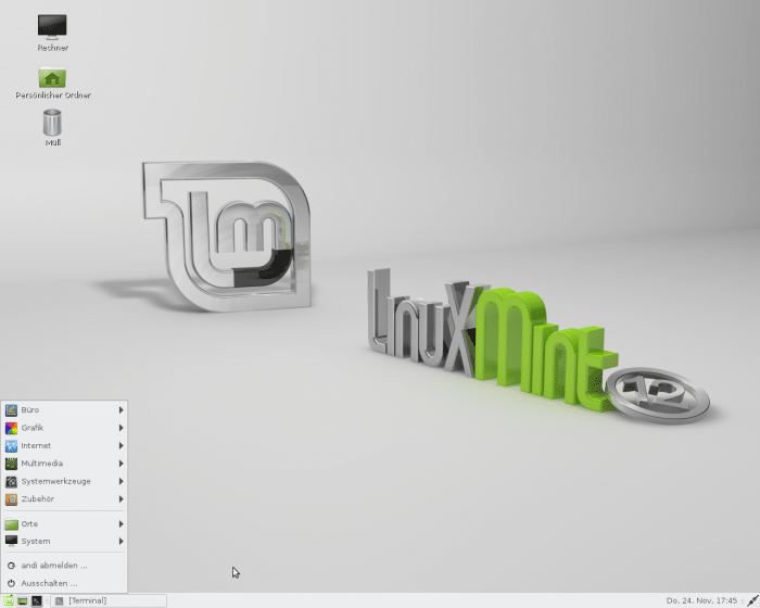 Mint liefert neben Gnome 3 auch den Gnome-2-Fork Mate mit.