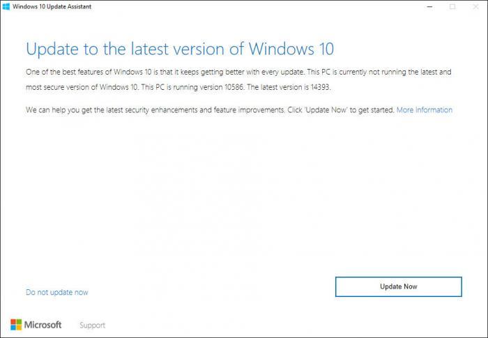 Das Update-Tool erkennt, dass ich Updates brauche