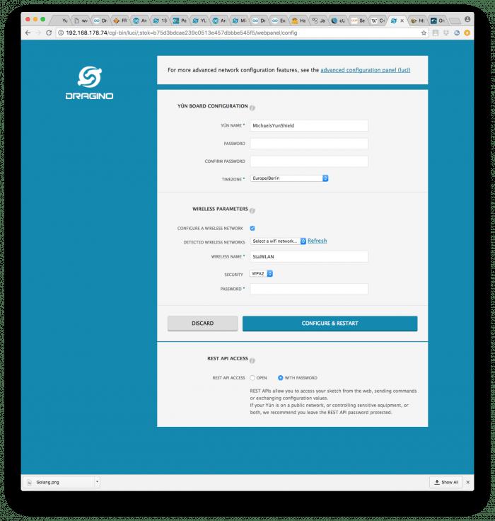 Im Webserver lassen sich Systemparameter wie Name, Login oder Netzwerkeinstellungen verändern
