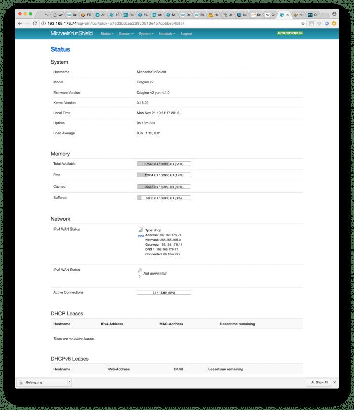 luci bietet erweiterte Konfigurationsmöglichkeiten