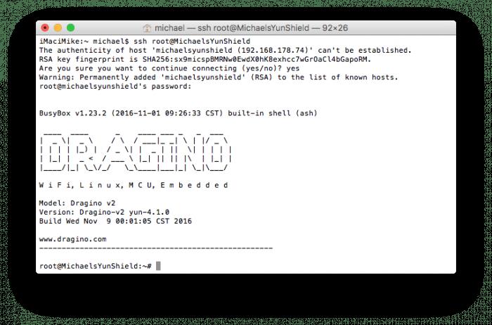 Zugriff über Linux-Konsole