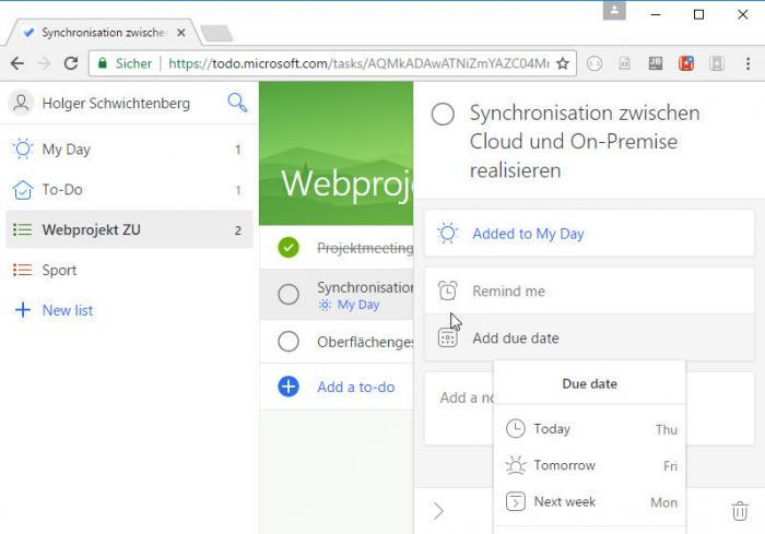 Microsoft To-Do als Nachfolger von Wunderlist