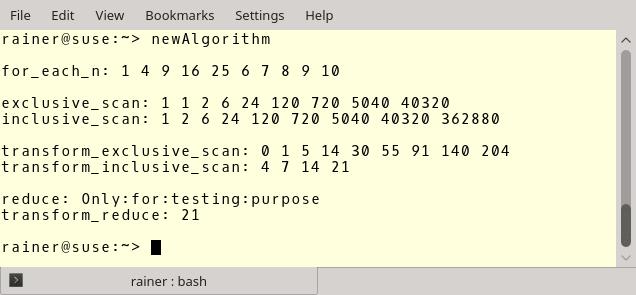 Neue Algorithmen in C++17