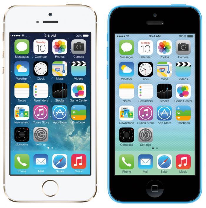 iPhone 5s: top, iPhone 5c: Flop
