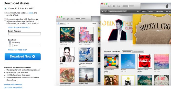 Das Update ist unter anderem über die iTunes-Download-Seite erhältlich