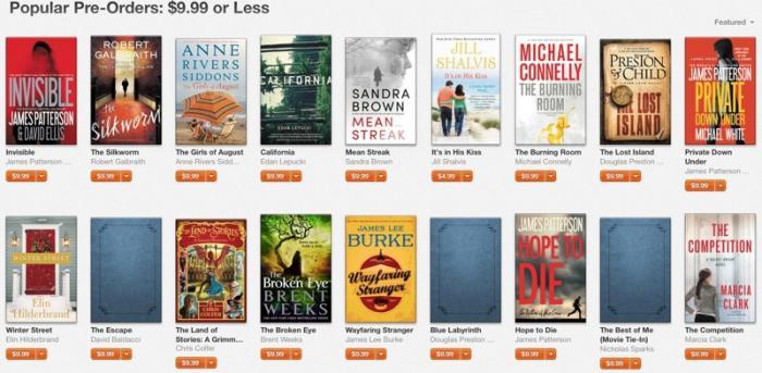 9,99 US-Dollar oder weniger: Angebot im iBookstore.