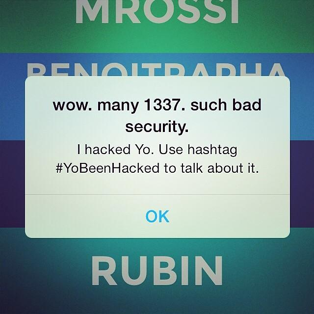 Yo-Hack auf dem iPhone.