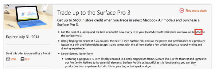 Microsofts Trade-in-Programm. MacBook Air bringt Geld.