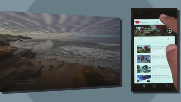 Neuerung bei Chromecast: Man kann nun auch Inhalte vom Smartphone auf den Fernseher schicken, wenn sich beide nicht im selben WLAN befinden.