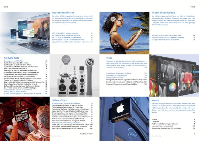 Mac & i Heft 4/2014: Inhaltsverzeichnis