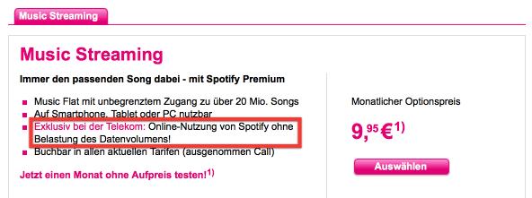 Screenshot T-Mobile-Website