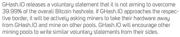 Statement von GHash.io