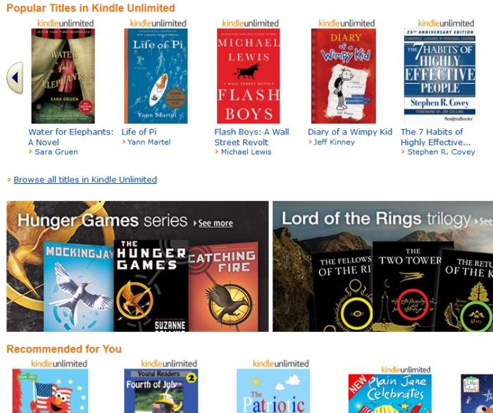 Insgesamt hat Amazon über 2,5 Millionen E-Books im Angebot, davon sind 600.000 in der neuen Flatrate enthalten.