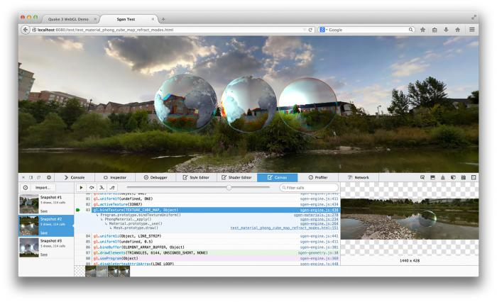 Screenshot vom Canvas-Debugger