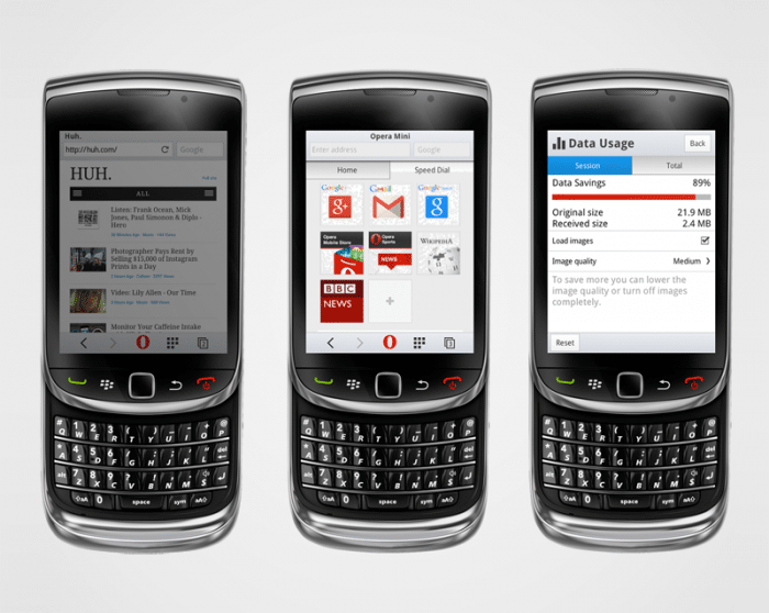 Opera Mini gibt es für verschiedene Plattformen.