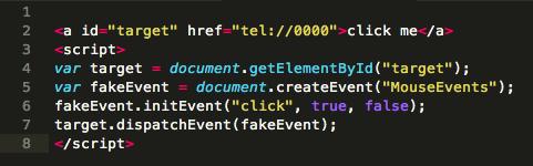 Mit ein wenig JavaScript klickt sich der Telefonier-Link einfach selbst.