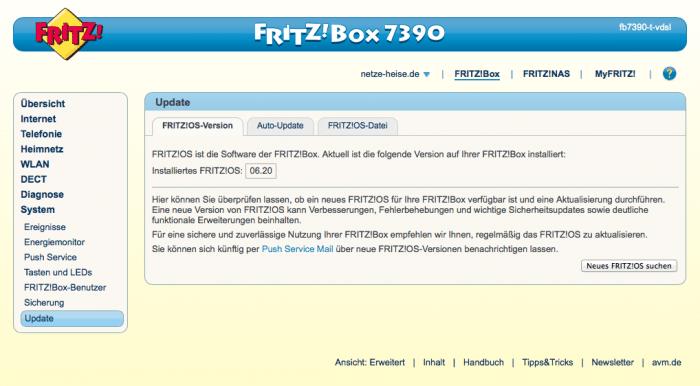 Jetzt auch für das letztjährige DSL-Flaggschiff von AVM erhältlich: FritzOS 6.20 mit insgesamt 99 Verbesserungen und Änderungen.