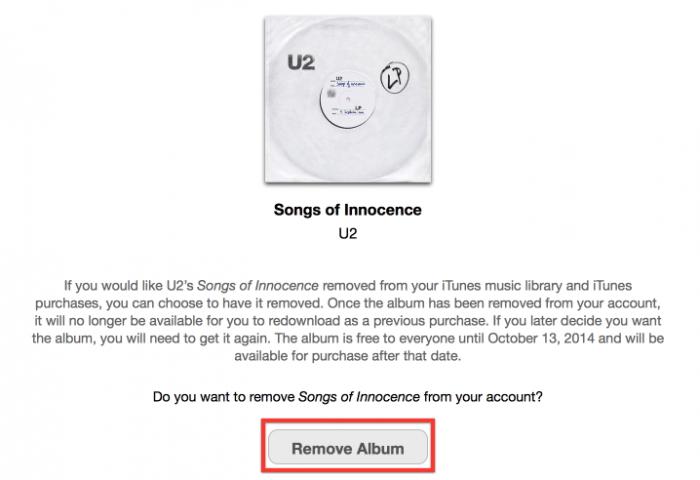 """Bitte hier klicken: Apples U2-Entfernungsportal bekam sogar eine leicht zu merkende URL – """"http://itunes.com/soi-remove""""."""