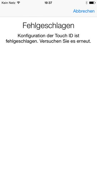 Touch ID-Sensor nach iOS 8.0.1-Update.