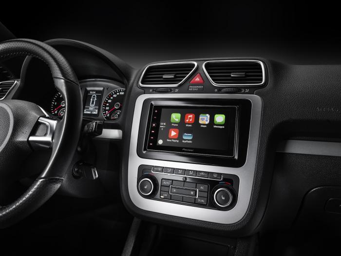 Das neue System SPA-DA120 spricht ebenfalls CarPlay, die Bedienung erfolgt über den Touchscreen