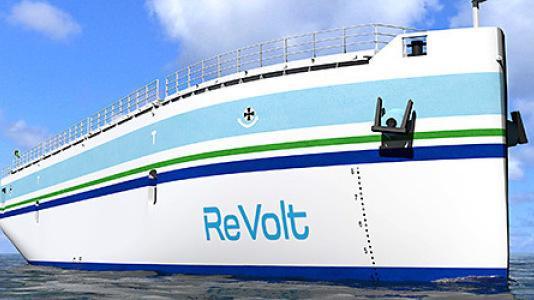 Roboterschiff: Frachtschiff mit Elektroantrieb fährt autonom