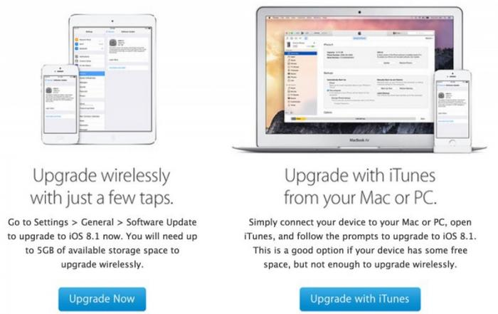 In dem Schreiben weist Apple auch auf die Installation per iTunes hin