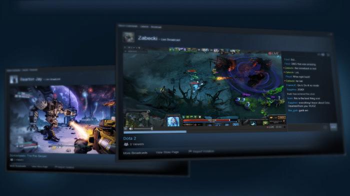 Steam überträgt Videostreams von Spielern