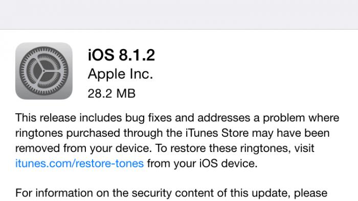 iOS 8.1.2 löst das Rätsel der verschwundenen Klingeltöne