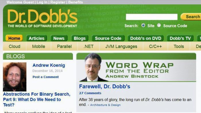 Das Ende des Dr. Dobb's Journal