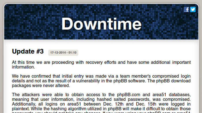 PhpBB-Downtime