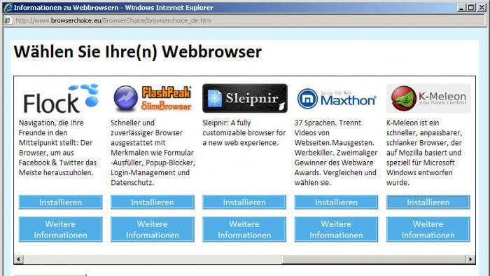 Microsoft schafft Web-Browserauswahl in Windows wieder ab