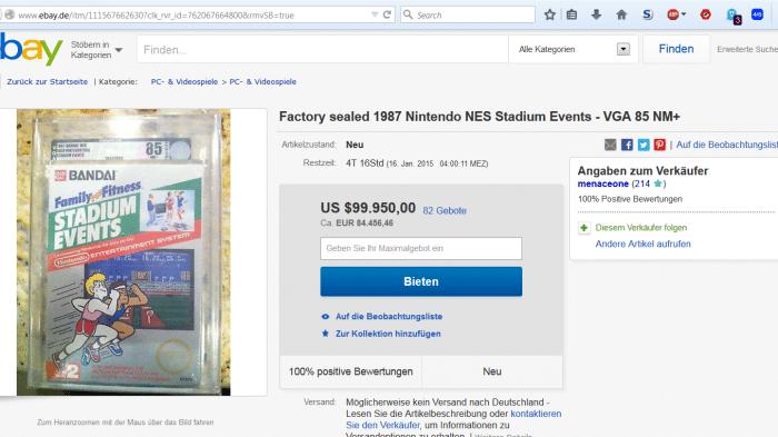 Sammerstück: Auktion für 28 Jahre altes Nintendo-Spiel