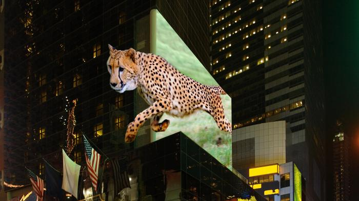 3D-Display am Time Square
