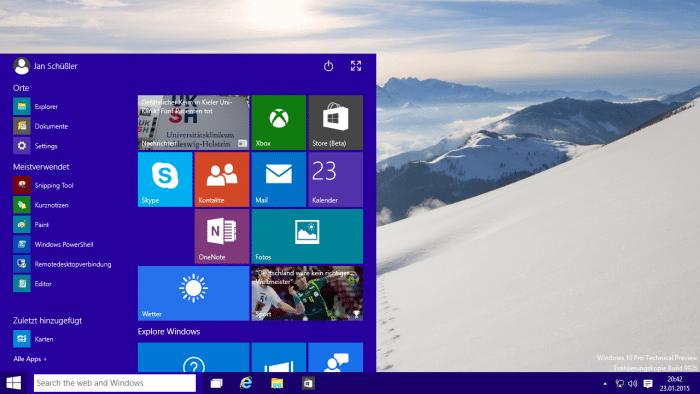 Windows 10 Preview Build 9926 verfügbar