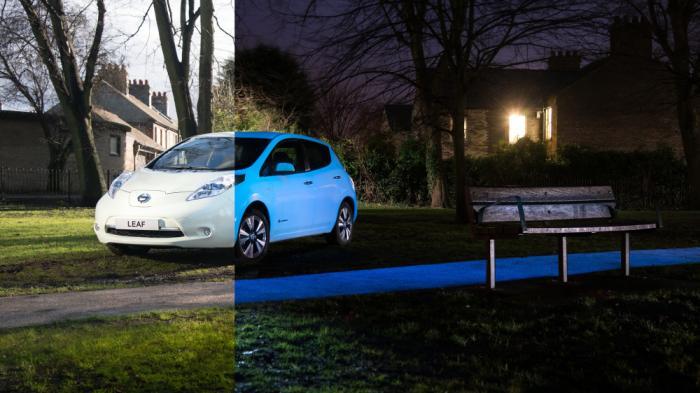 Nissan testet fluoreszierenden Autolack