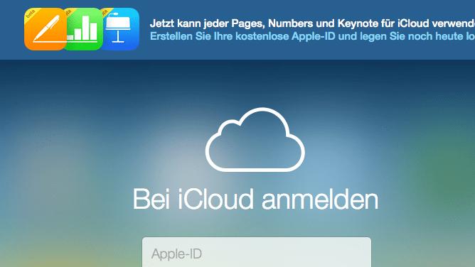 Apple macht iWork für iCloud allgemein zugänglich