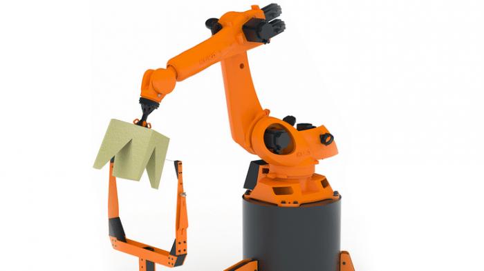 Robochop: Wenn Industrieroboter Schaumwürfel schneiden