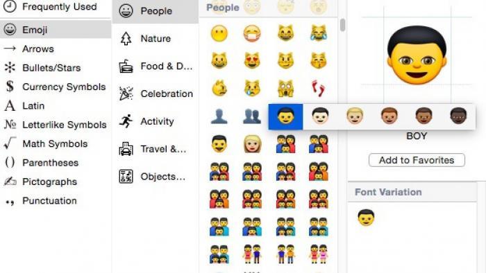 iOS und OS X: Emojis bekommen unterschiedliche Hautfarben