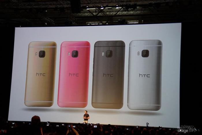Das HTC One M9 gibt es unter anderem in goldener Farbe.