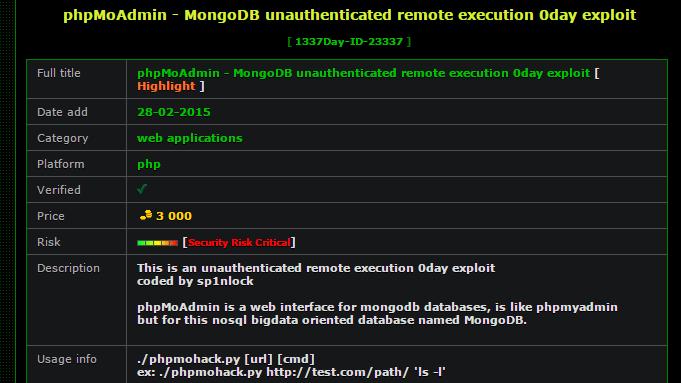 Zero-Day-Exploit für phpMoAdmin-Lücke