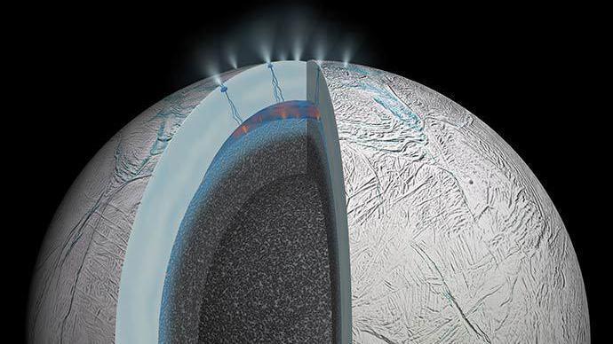 Saturnmond Enceladus: Hinweise auf lebensfreundliche Bedingungen unter dem Eis